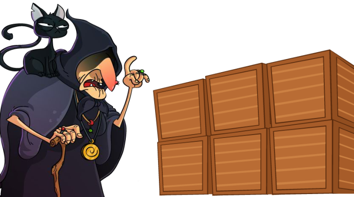 Black Market Witch and Boxes