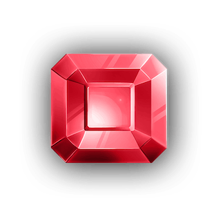 Squared Ruby Crystal