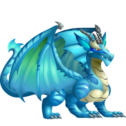 An image of the Aquamarine Dragon
