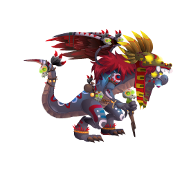 An image of the Aztec Priest Dragon