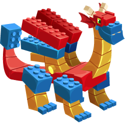 An image of the Block Dragon