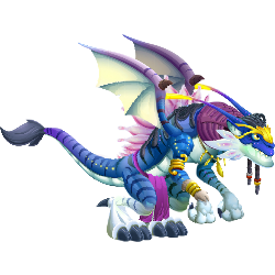 An image of the Blue Alien Dragon