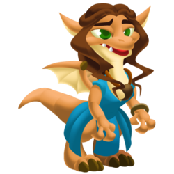 An image of the Brown Haired Dragon