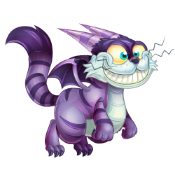 An image of the Cheshire Cat Dragon