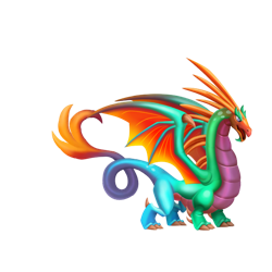 An image of the Colorful Dragon