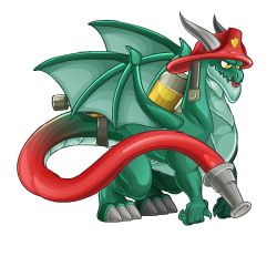 An image of the Firefighter Dragon