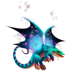 An image of the Galaxy Fae Dragon
