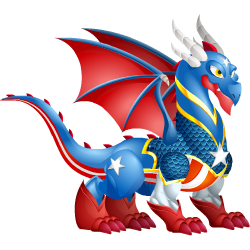 An image of the Independence Day Dragon