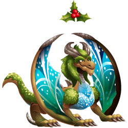 An image of the Mistletoe Dragon