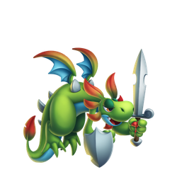 An image of the Nature Knight Dragon