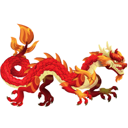 An image of the Red Asian Dragon