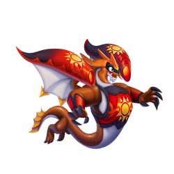 An image of the Solar Flare Dragon