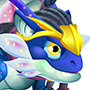 The Blue Alien Dragon youth from Levels 4 to 6