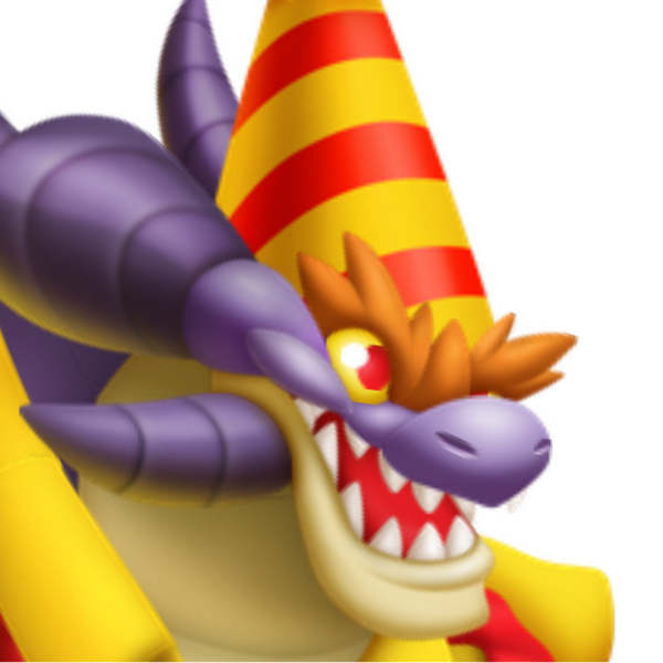 The Celebration Dragon in Dragon City