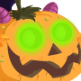The Evil Pumpkin Dragon child from Levels 1 to 3