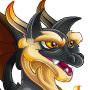 An image of a Firewolf Dragon