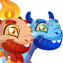 The Ice&Fire Dragon child from Levels 1 to 3
