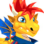 The Soccer Dragon child from Levels 1 to 3