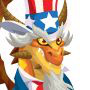 The uncle-sam Dragon adult from Levels 7 to 30