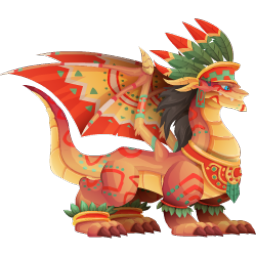 An image of the Aztec Warrior Dragon