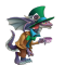 The Big Hat Dragon in Dragon City