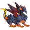 The Lava Dragon in Dragon City