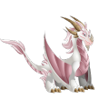 The Albino Dragon in Dragon City