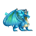 The Aquamarine Dragon in Dragon City