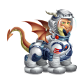 The Astronaut Dragon in Dragon City