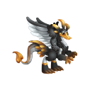 The Black Swan Dragon in Dragon City