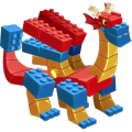 The Block Dragon in Dragon City