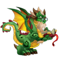 The Bookday Dragon in Dragon City