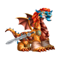 The Brave Sword Dragon in Dragon City