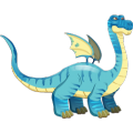 The Brontosaurus Dragon in Dragon City