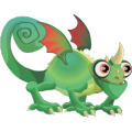 The Chameleon Dragon in Dragon City