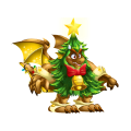 The Christreen Dragon in Dragon City