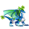 The Clover Dragon in Dragon City