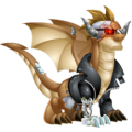 The Cyborg Dragon in Dragon City