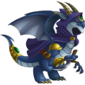 The Dark Elf Dragon in Dragon City