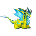The Double Electric Dragon in Dragon City
