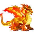 The Double Flame Dragon in Dragon City