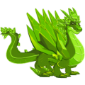 The Emerald Dragon in Dragon City