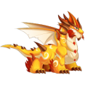 The Fathers Day Dragon in Dragon City