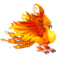 The Firebird Dragon in Dragon City