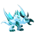 The Frostbite Dragon in Dragon City