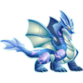 The Frozen Wind Dragon in Dragon City