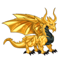 The Gold Dragon in Dragon City