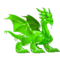 The Greenfluid Dragon in Dragon City
