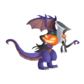 The Halloween Dragon in Dragon City