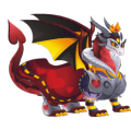 The Hearts Queen Dragon in Dragon City